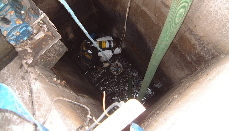 Interceptor Cleaning Confined Space Entry